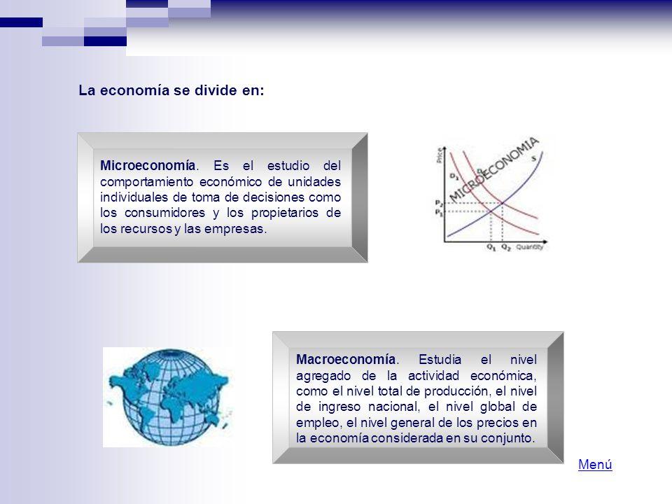 La economía se divide en: