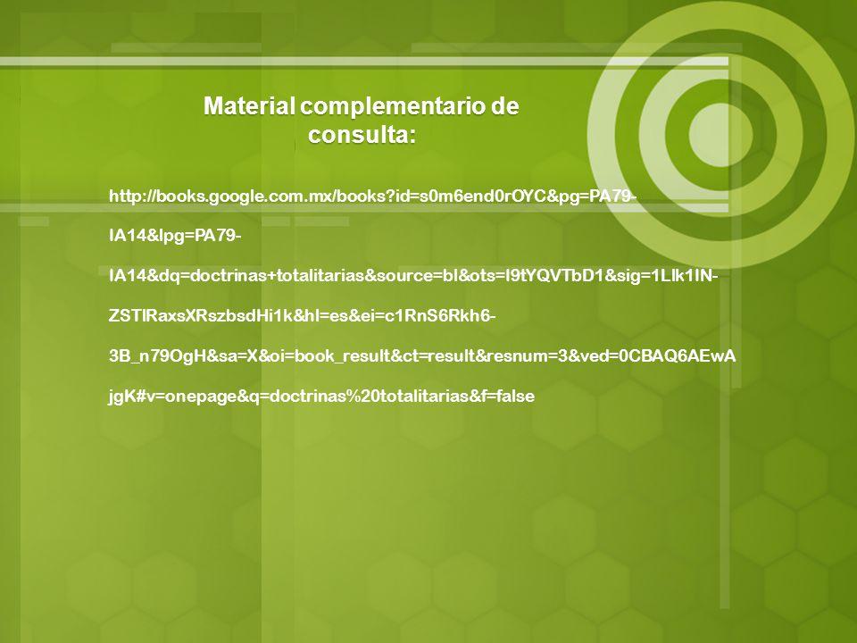 Material complementario de consulta: