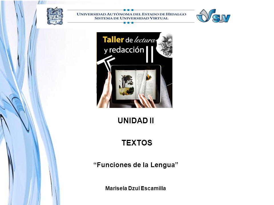 Funciones de la Lengua Marisela Dzul Escamilla