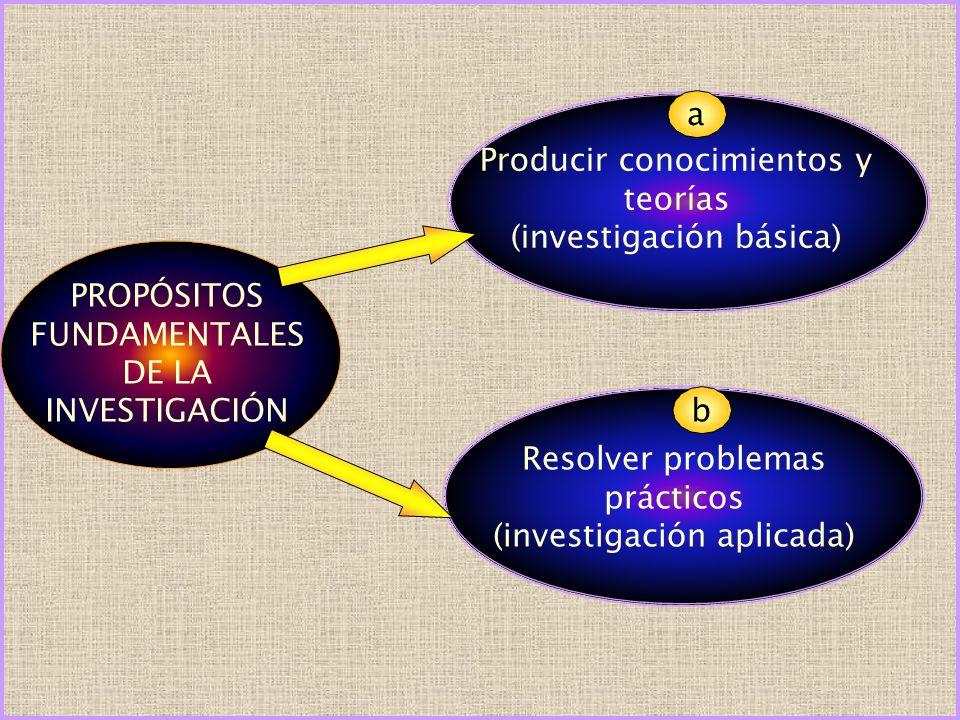 Producir conocimientos y teorías (investigación básica)