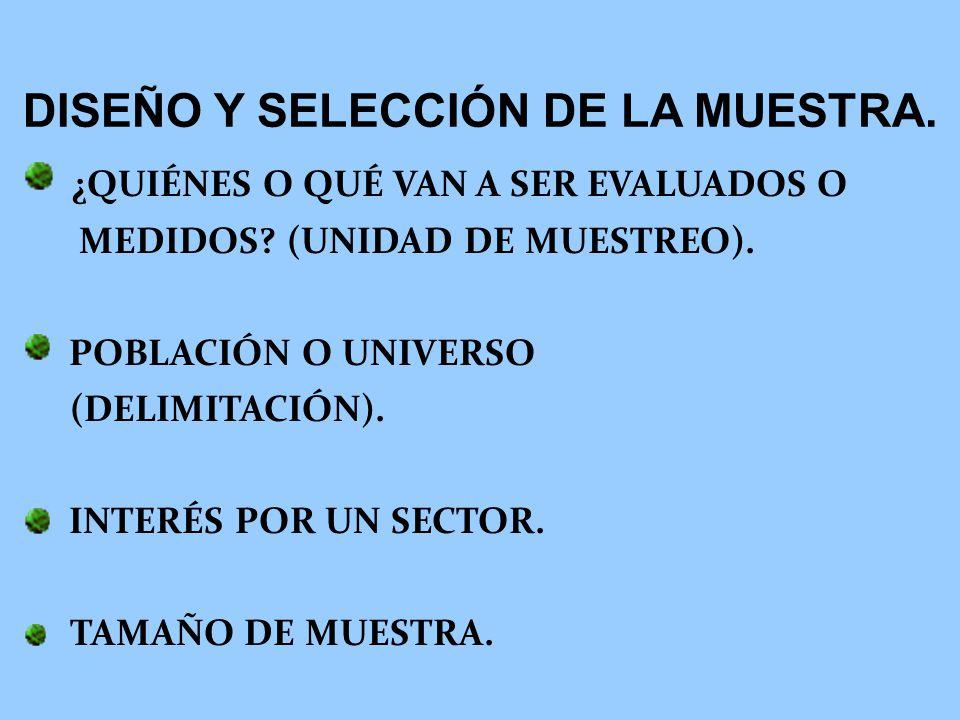 DISEÑO Y SELECCIÓN DE LA MUESTRA.