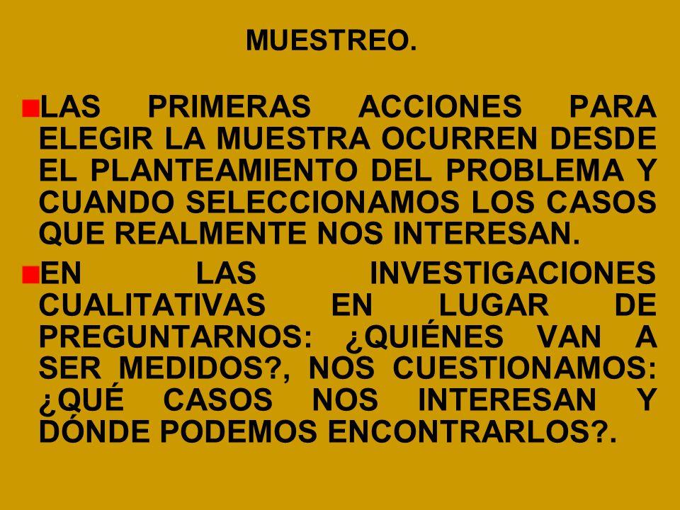 MUESTREO.