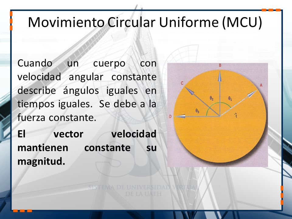 Movimiento Circular Uniforme (MCU)