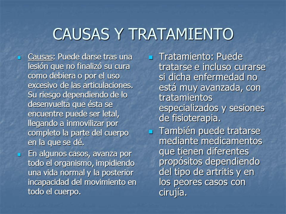 CAUSAS Y TRATAMIENTO