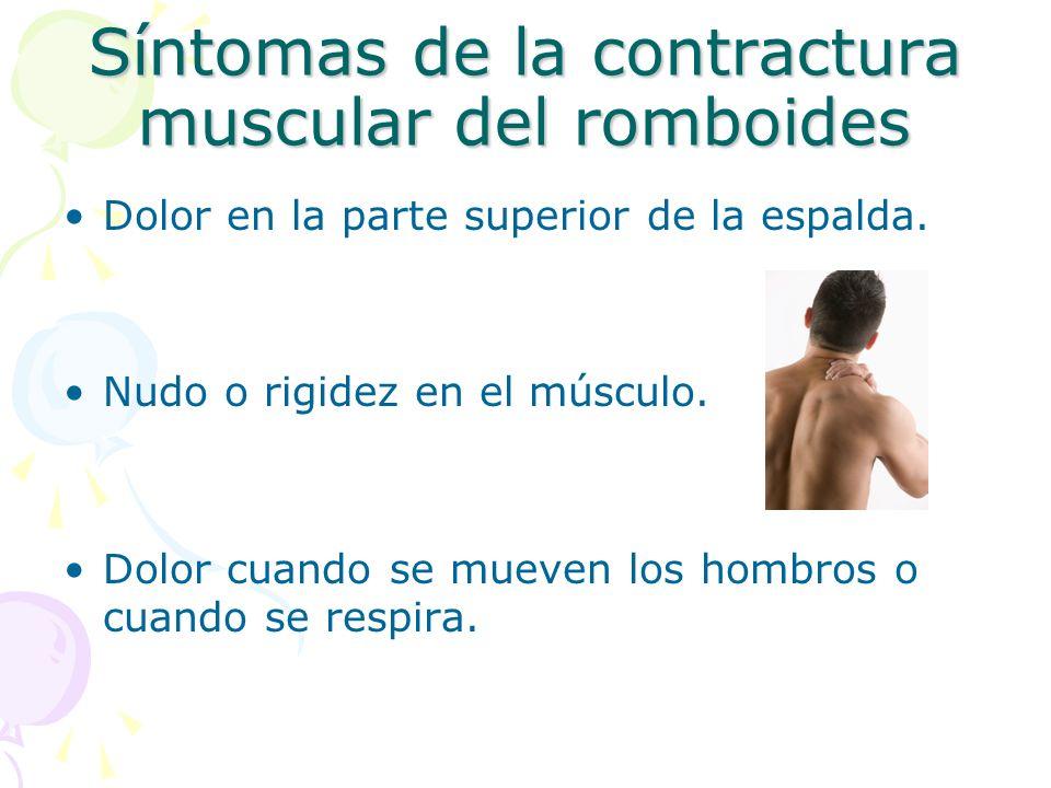Síntomas de la contractura muscular del romboides