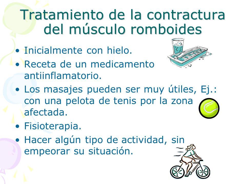 Tratamiento de la contractura del músculo romboides