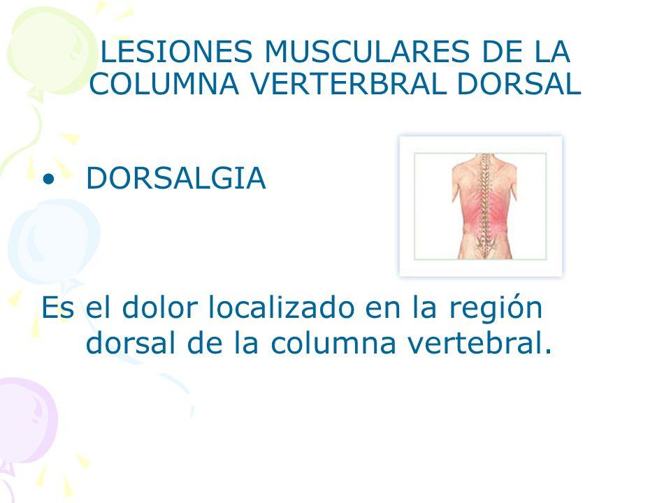LESIONES MUSCULARES DE LA COLUMNA VERTERBRAL DORSAL