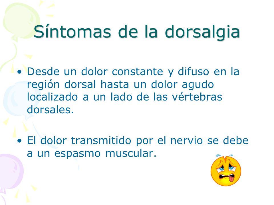 Síntomas de la dorsalgia