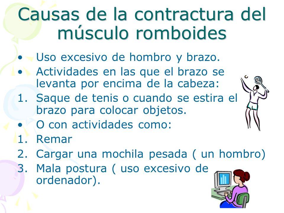 Causas de la contractura del músculo romboides
