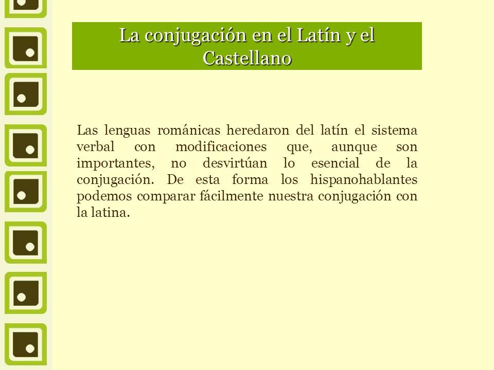 La conjugación en el Latín y el Castellano