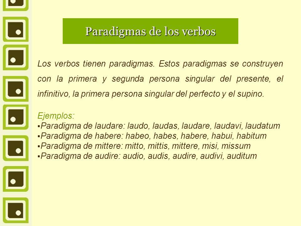 Paradigmas de los verbos