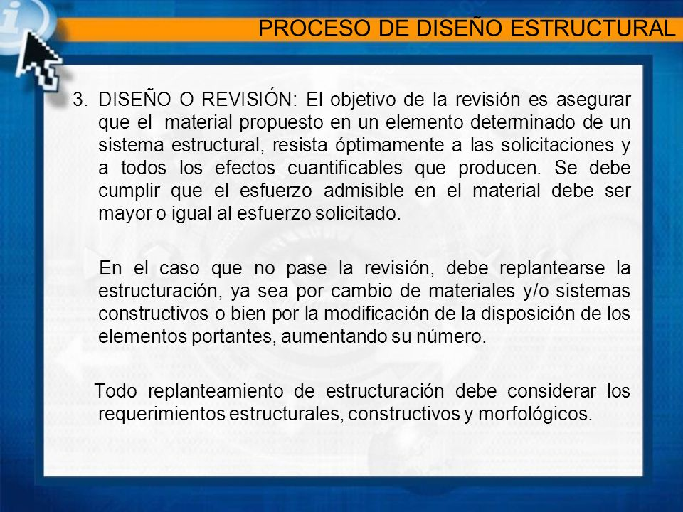 PROCESO DE DISEÑO ESTRUCTURAL