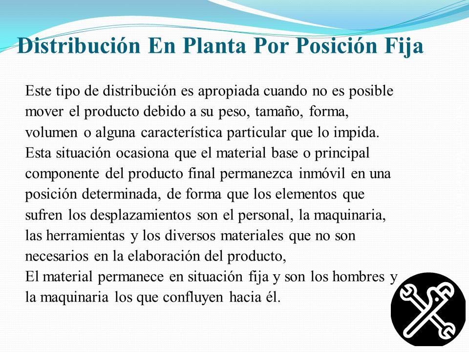 Distribución En Planta Por Posición Fija