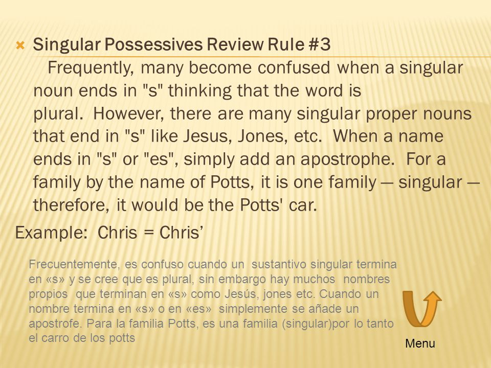 Example: Chris = Chris'