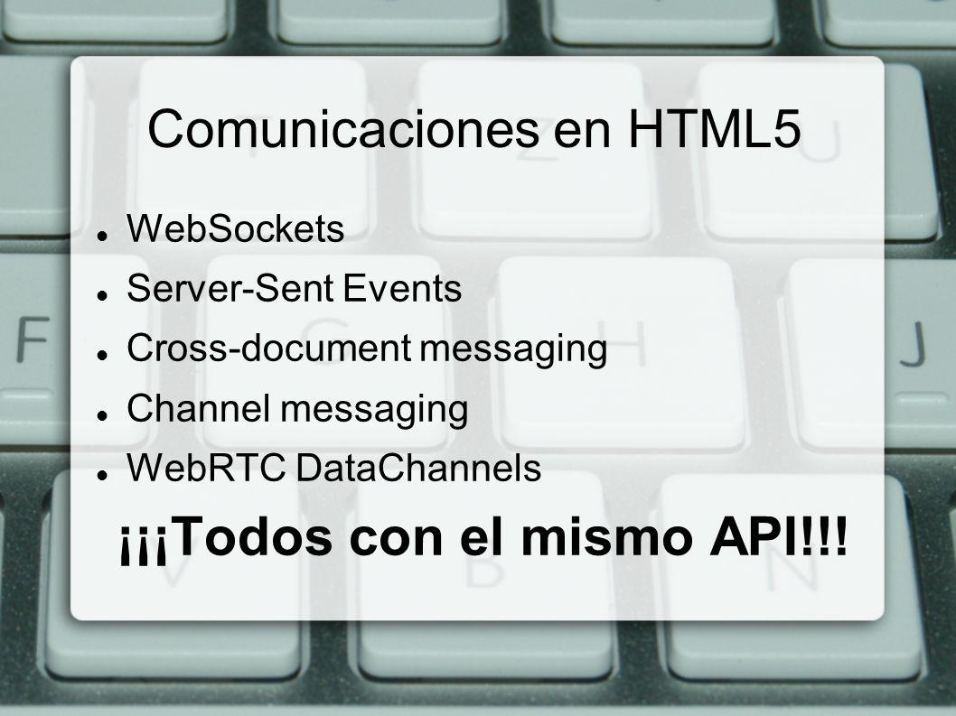 Comunicaciones en HTML5