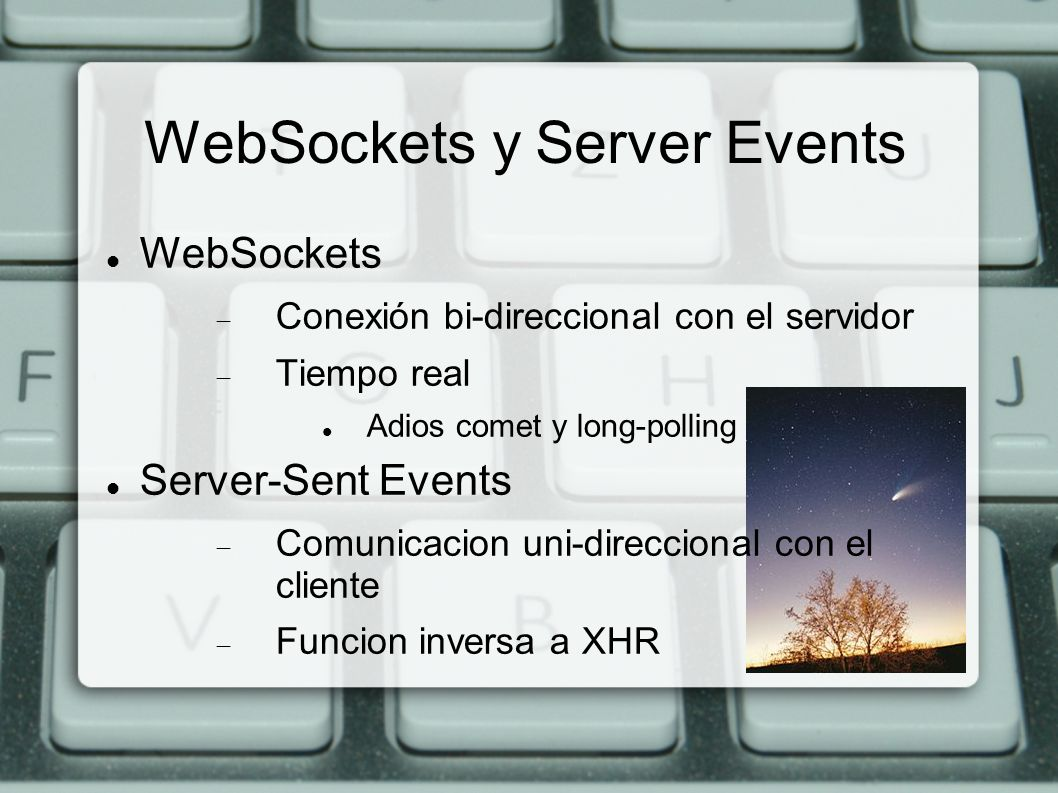 WebSockets y Server Events