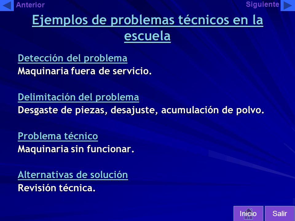 Ejemplos de problemas técnicos en la escuela