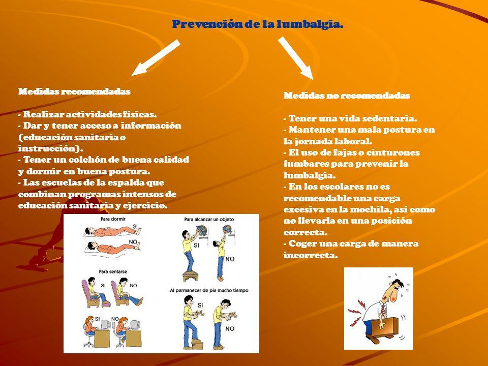 Prevención de la lumbalgia.