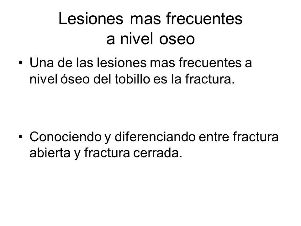 Lesiones mas frecuentes a nivel oseo