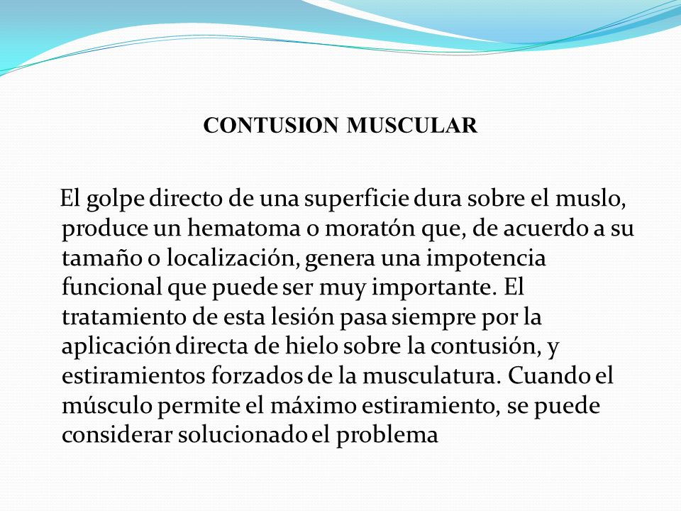 CONTUSION MUSCULAR