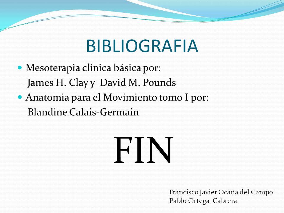 FIN BIBLIOGRAFIA Mesoterapia clínica básica por: