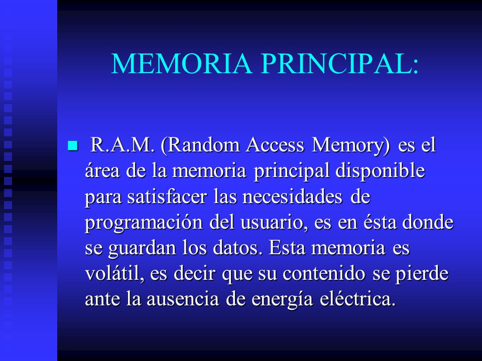 MEMORIA PRINCIPAL: