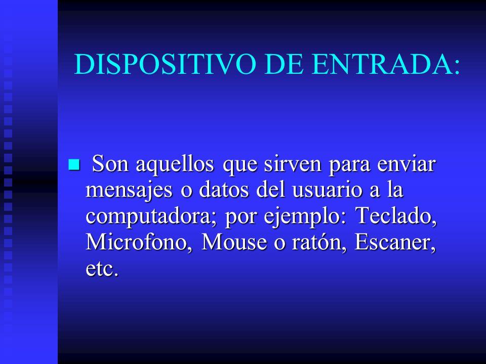 DISPOSITIVO DE ENTRADA:
