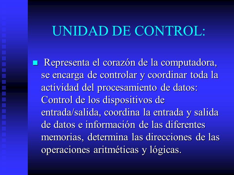 UNIDAD DE CONTROL: