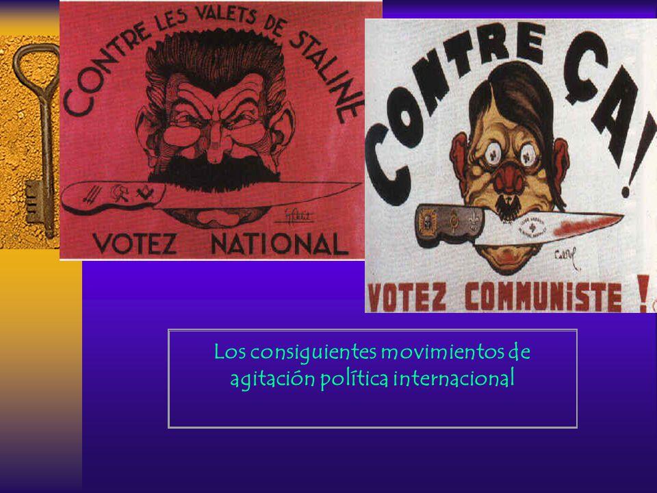 Los consiguientes movimientos de agitación política internacional