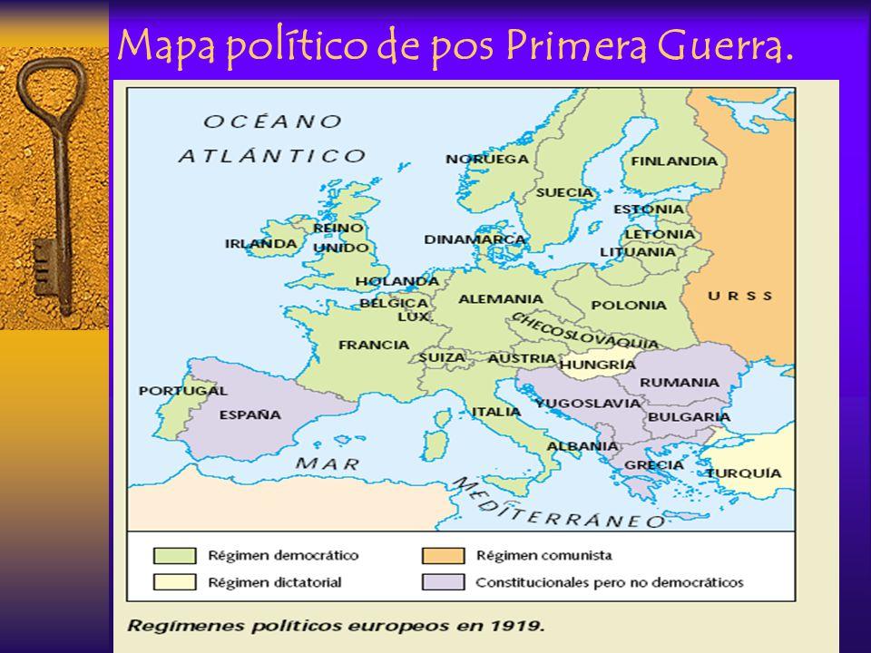 Mapa político de pos Primera Guerra.