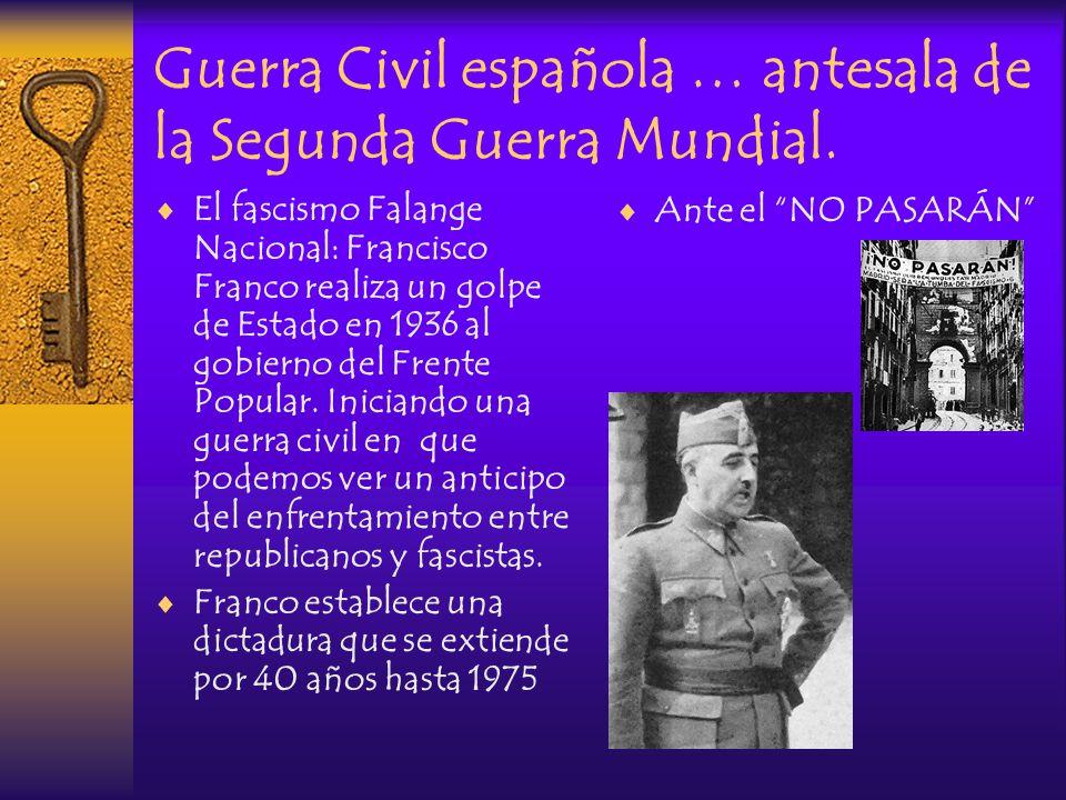 Guerra Civil española … antesala de la Segunda Guerra Mundial.