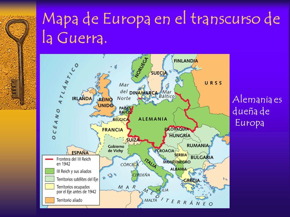 Mapa de Europa en el transcurso de la Guerra.