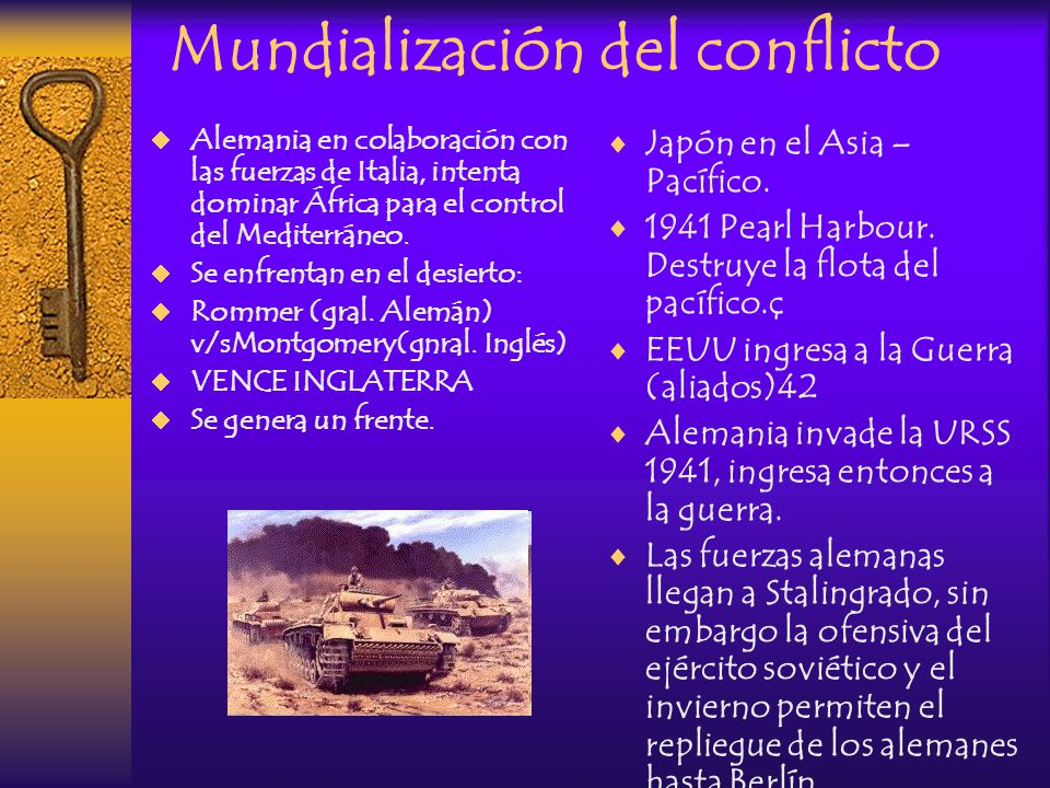 Mundialización del conflicto