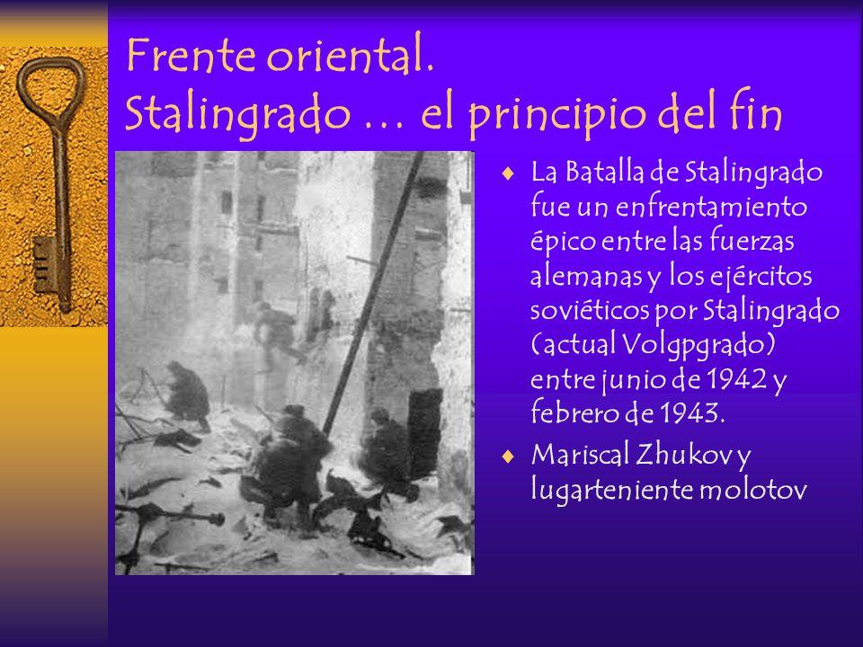 Frente oriental. Stalingrado … el principio del fin