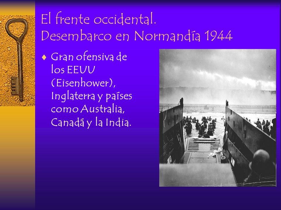 El frente occidental. Desembarco en Normandía 1944
