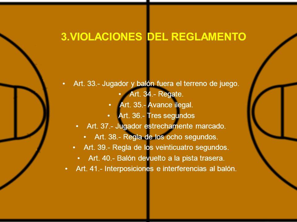3.VIOLACIONES DEL REGLAMENTO