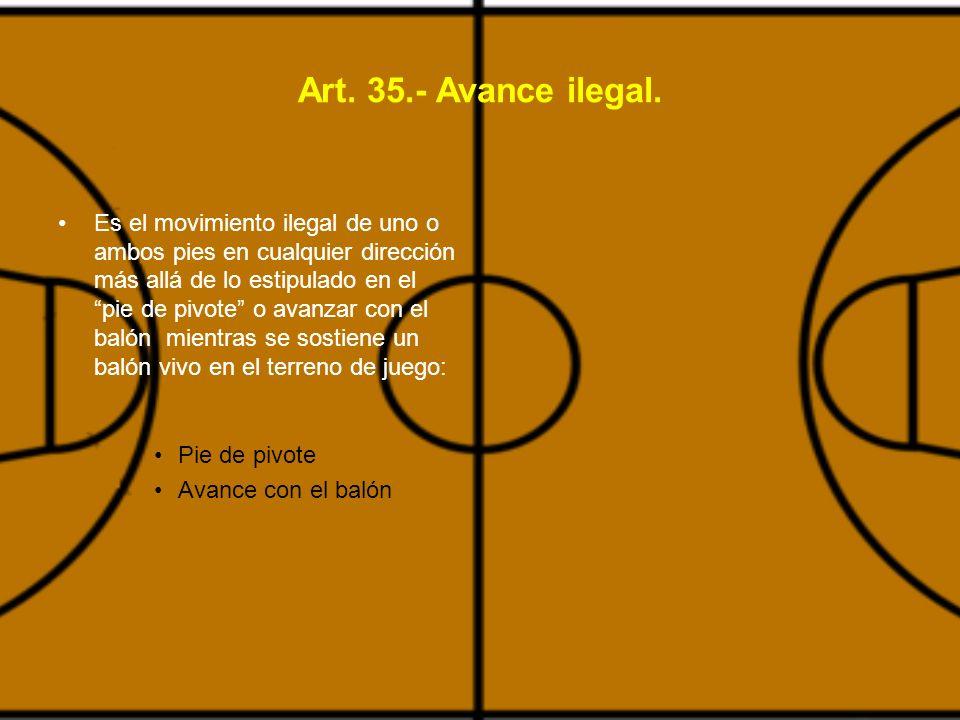 Art. 35.- Avance ilegal.