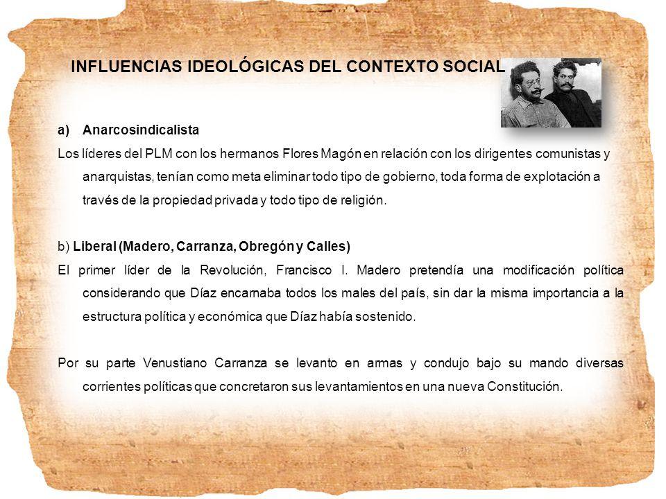 INFLUENCIAS IDEOLÓGICAS DEL CONTEXTO SOCIAL