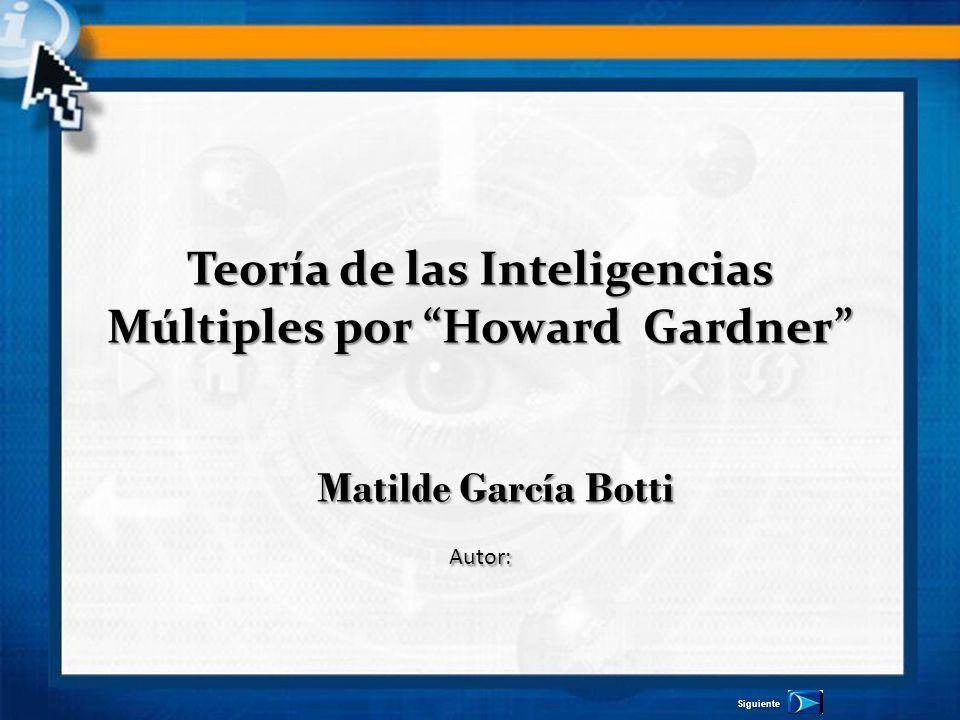 Teoría de las Inteligencias Múltiples por Howard Gardner