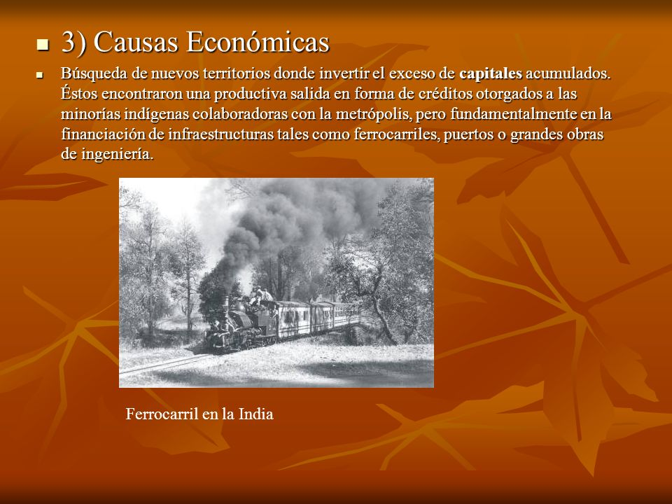 3) Causas Económicas