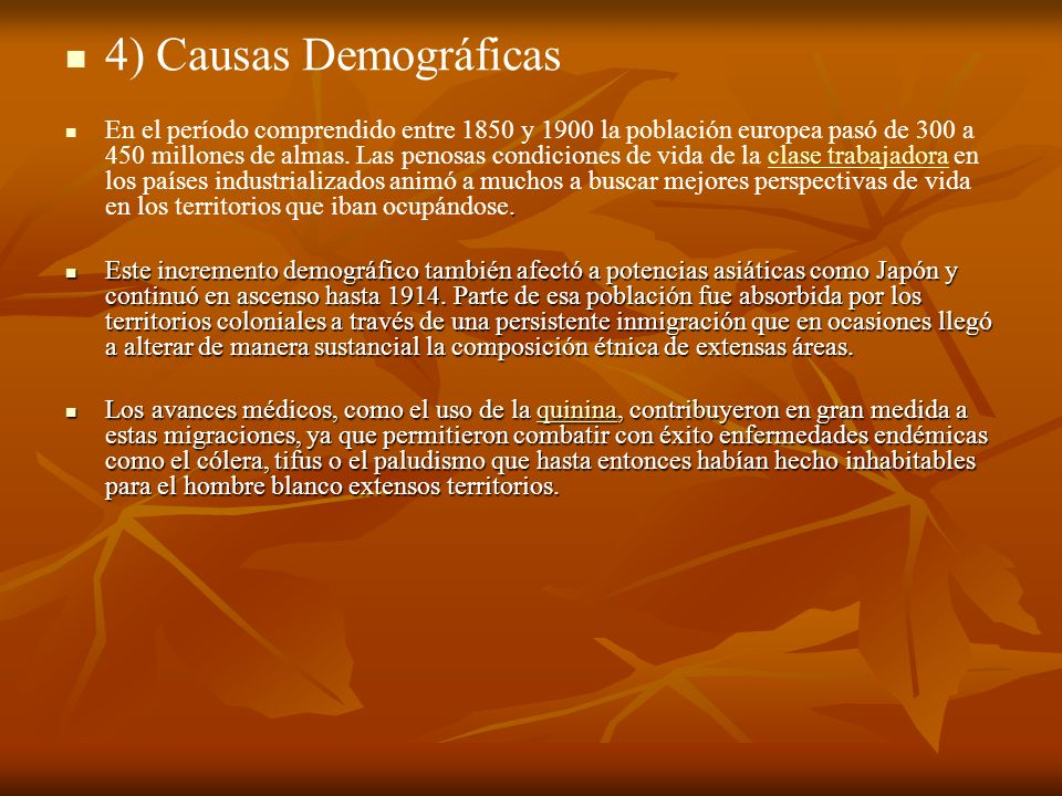 4) Causas Demográficas