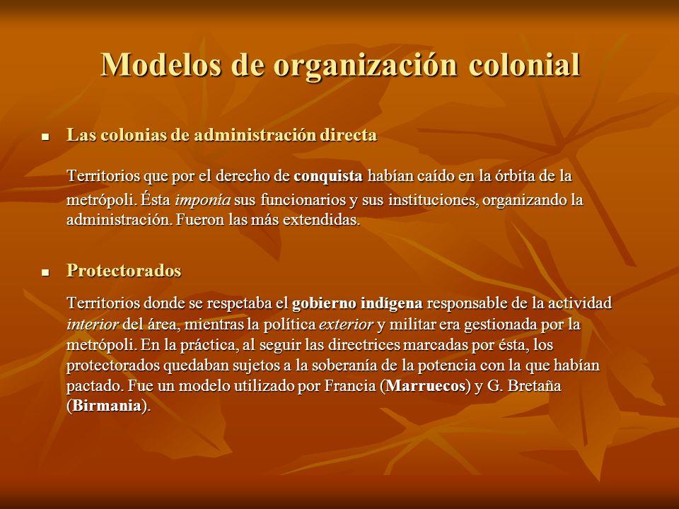 Modelos de organización colonial