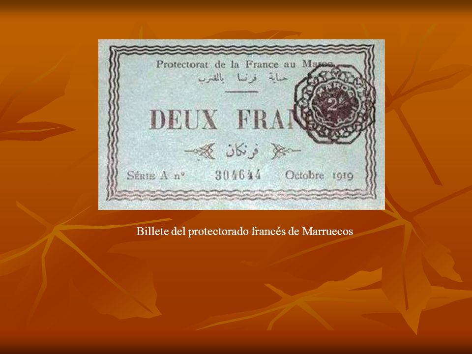 Billete del protectorado francés de Marruecos