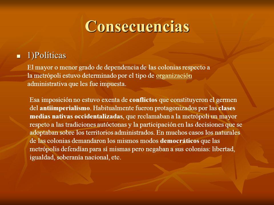 Consecuencias 1)Políticas