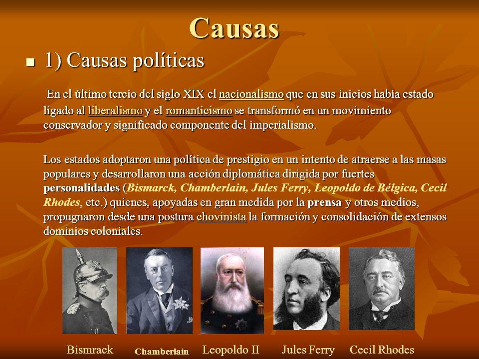 Causas 1) Causas políticas