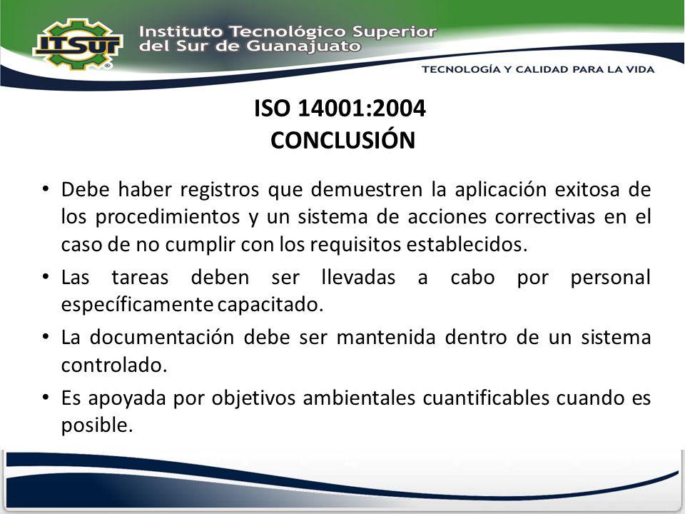 ISO 14001:2004 CONCLUSIÓN