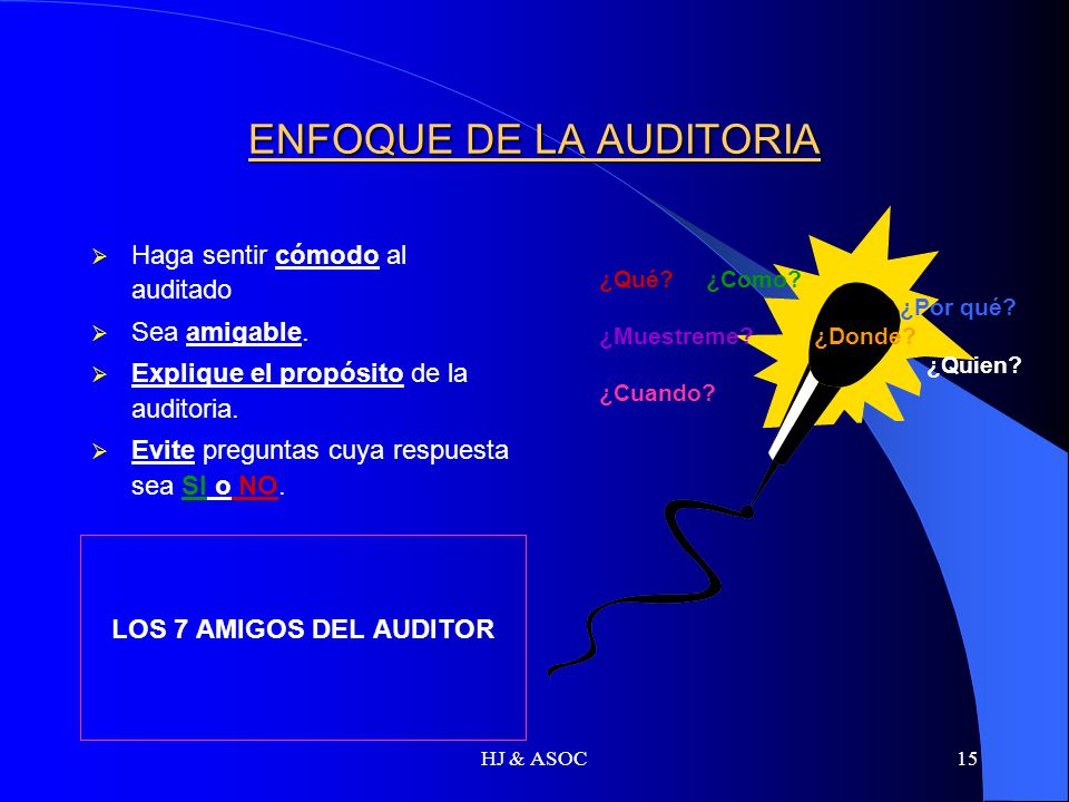 ENFOQUE DE LA AUDITORIA