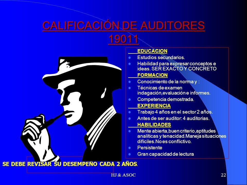 CALIFICACIÓN DE AUDITORES 19011