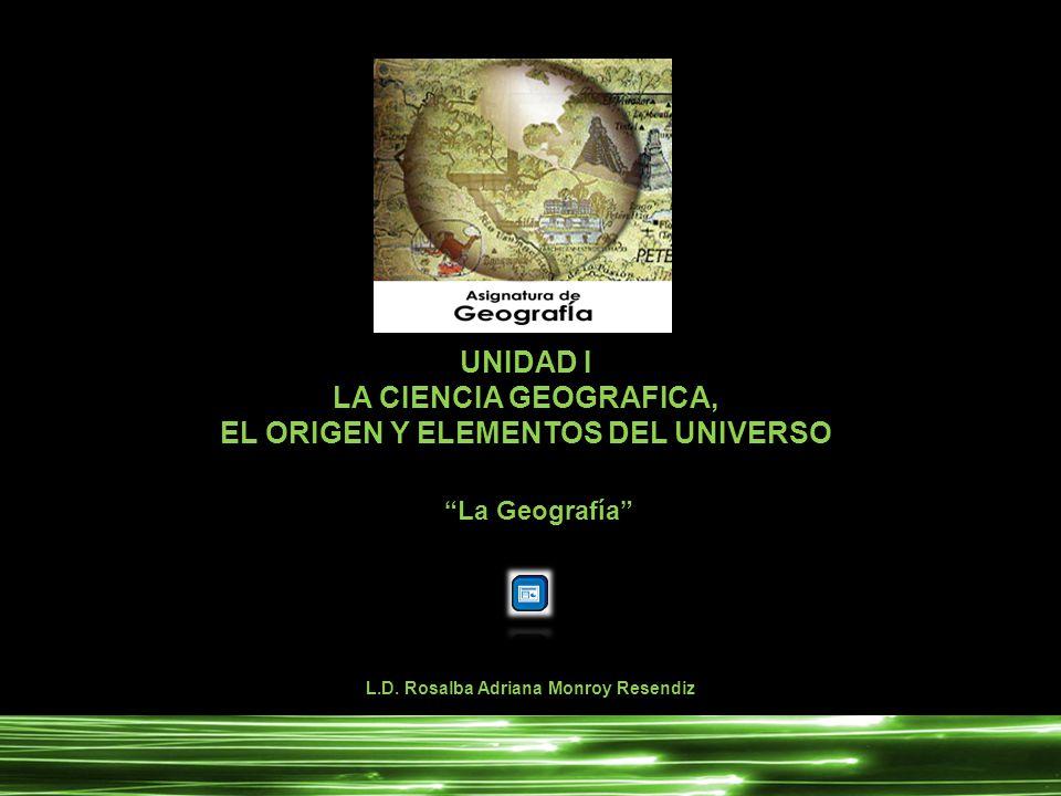 EL ORIGEN Y ELEMENTOS DEL UNIVERSO