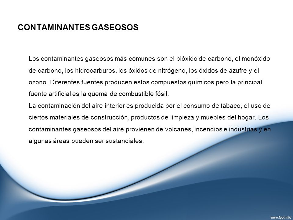 CONTAMINANTES GASEOSOS